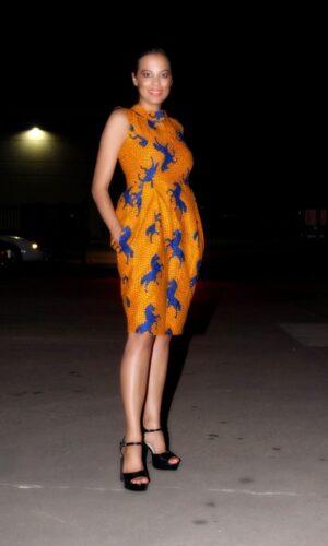 Lady Diana African Print Dress